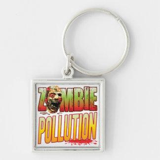 Pollution Zombie Head Keychain