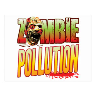 Pollution Zombie Head Post Card