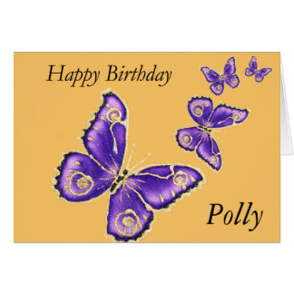 Polly, Happy birthday butterfly card