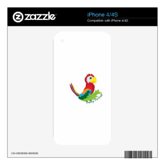 Polly Parrot Skins For iPhone 4