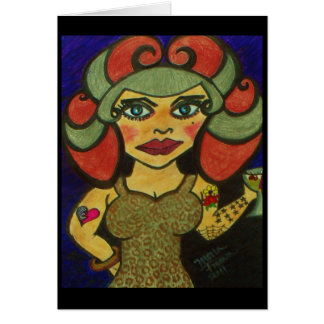 """""""Polly Pinup"""" Card"""
