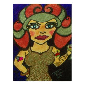 """Polly Pinup"" Postcard"