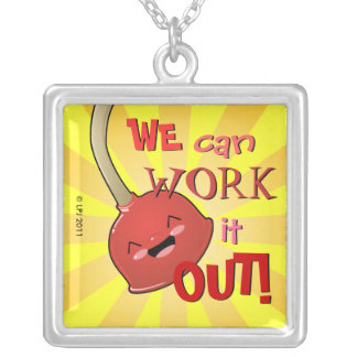 Polly Plunger We Can Work it Out Necklace