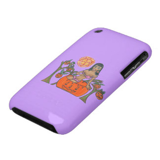 Polly Pumpkin Pop Up Patch Halloween Girl Case-Mate iPhone 3 Cases