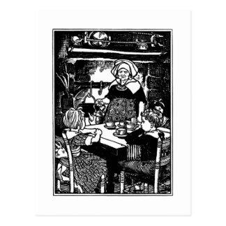 Polly puso la caldera en poesía infantil tarjetas postales