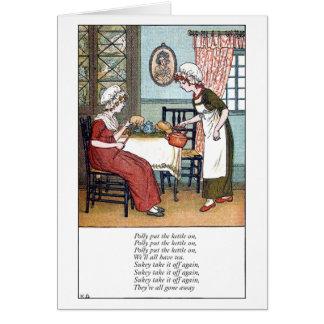 Polly puso la caldera tarjeta de felicitación
