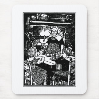 Polly Put the Kettle on Nursery Rhyme Mouse Pad