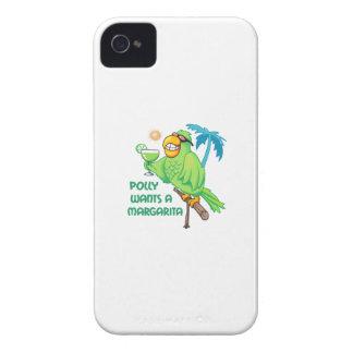 POLLY QUIERE A UNA MARGARITA Case-Mate iPhone 4 FUNDA