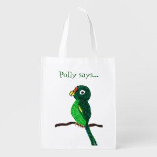 Polly says... Reusable Bag Reusable Grocery Bags
