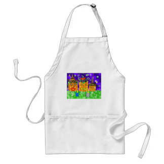 Polly Winkle Pumpkin Family Adult Apron