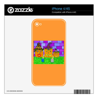 Polly Winkle Pumpkin Family Decals For iPhone 4S