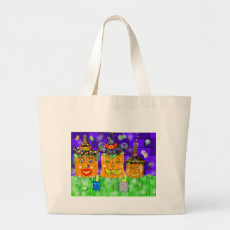 Polly Winkle Pumpkin Family Large Tote Bag