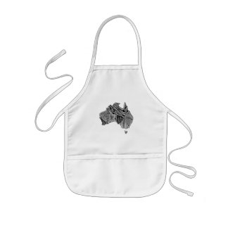 pollywollydoodles kids' apron