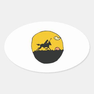 Polo 10 oval sticker