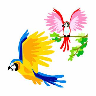 Polo and Poli Parrot Photo Cutout