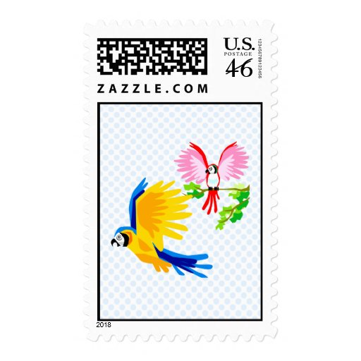 Polo and Poli Parrot Postage