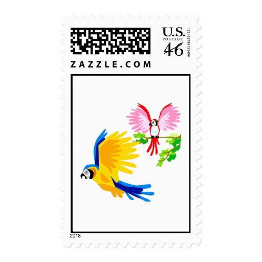 Polo and Poli Parrot Stamps