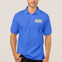 Blue pole anagram polo shirt