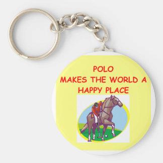 polo basic round button keychain