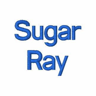 polo bordado con el rayo del azúcar