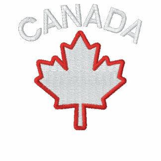 Polo bordado hoja de arce canadiense del bordado
