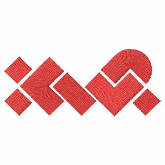 Polo bordado XWP blanco/rojo