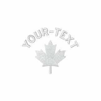 Polo de Canadá - camisa canadiense blanca del arce