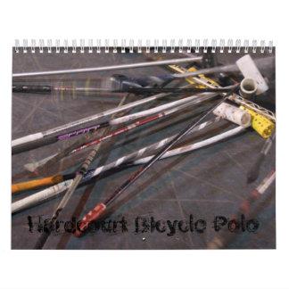 Polo de la bicicleta del Hardcourt - modificado Calendarios De Pared