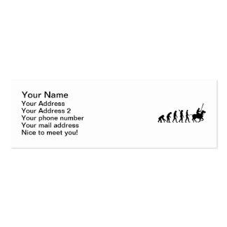 Polo de la evolución tarjetas de visita mini