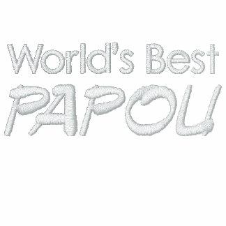 ¡Polo de Papou - gran regalo griego del abuelo! Camiseta Polo Bordada