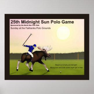 Polo de Sun de medianoche Posters