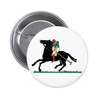 Polo del caballo de Deco Pin Redondo 5 Cm