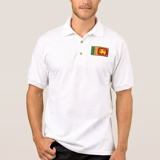 Polo del golf de la bandera de Sri Lanka