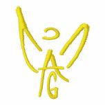 Polo del negro del ángel del AG - ángel del oro