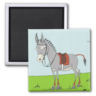 Polo Donk Game Face 2 Inch Square Magnet