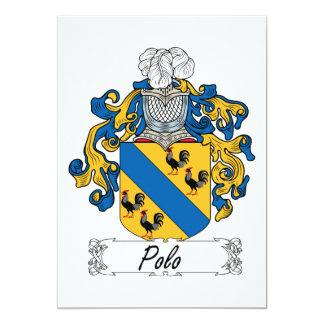 Polo Family Crest Card