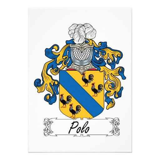 Polo Family Crest Cards