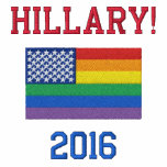 Polo gay de la bandera de Hillary Clinton