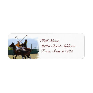 Polo Horse Match Mailing Labels