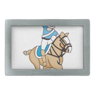 Polo Horse Rectangular Belt Buckle
