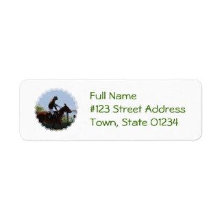 Polo Horse Return Address Label