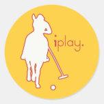 Polo Horse Round Sticker