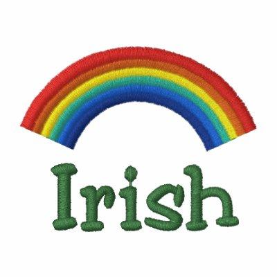 Polo irlandés bordado del arco iris