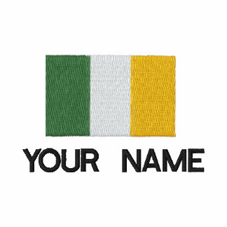 Polo irlandés bordado personalizado de la bandera