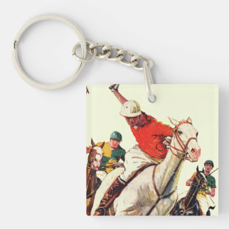 Polo Match Double-Sided Square Acrylic Keychain