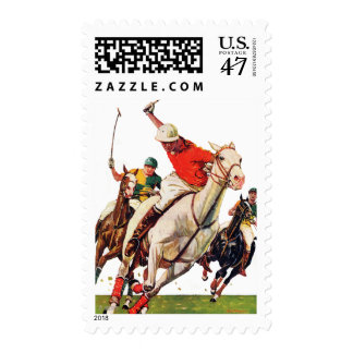 Polo Match Postage Stamp
