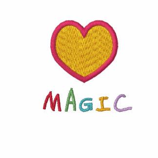 Polo negro bordado magia del corazón