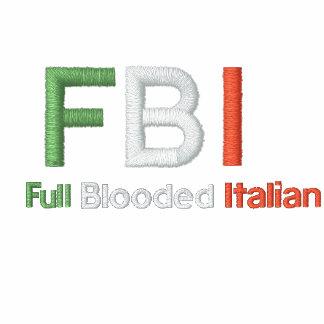 Polo negro italiano completo del FBI Blooded