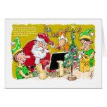 Polo Norte en tarjeta de Navidad tardía de los