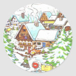Polo Norte Etiquetas Redondas